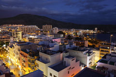 Over the roofs of Los Cristianos Royalty Free Stock Photography