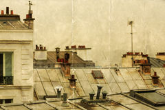 Over the roofs of Paris Stock Image