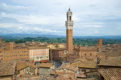 Over the roofs of Siena. Italy. Over the roofs of Siena, Italy stock image