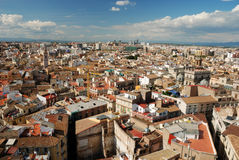 Over the roofs of Valencia stock photo