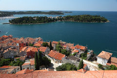 Over the rooftops of Rovinj Stock Photos