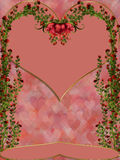 Over Roses. Roses and heart can make more lovelly day for your Valentine Specials Royalty Free Stock Photography