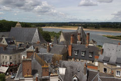 Over The roves,Old Town, Amboise, loire valley Stock Image