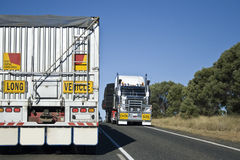 Over size sign. On a truck in Queensland, Australia Royalty Free Stock Image