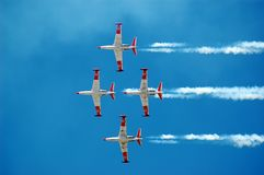Over the sky 2. This picture was taken during the Independent day of Israel Royalty Free Stock Image