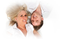 Over smilling lovers Royalty Free Stock Photography
