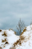 Over the snowy hill Stock Photography