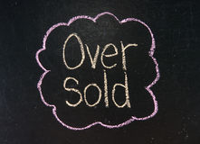 OVER SOLD Stock Photos