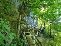 Haha Tonka 300 Stairs to River stock photo
