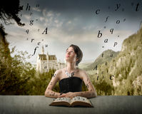 Over-studing... Royalty Free Stock Image