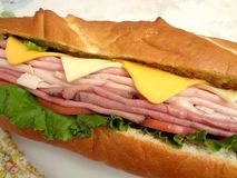 Over Stuffed Sub Sandwich Royalty Free Stock Images