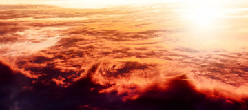 Over the sunset Stock Photography