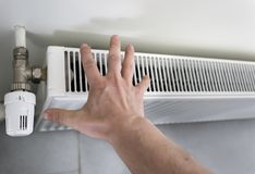 Adjust heaters to save energy stock image