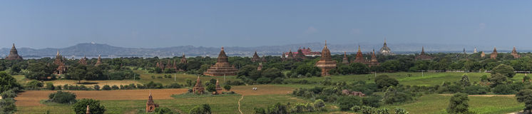 Over The Temples of Bagan Royalty Free Stock Images