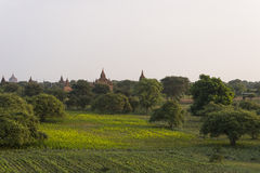 Over The Temples of Bagan Stock Images