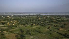 Over The Temples of Bagan stock photo