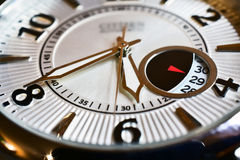 Over time. Close up of wristwatch Stock Images