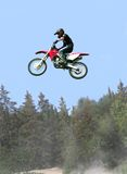 Over the treetops. Taken at massey moto cross Royalty Free Stock Photography