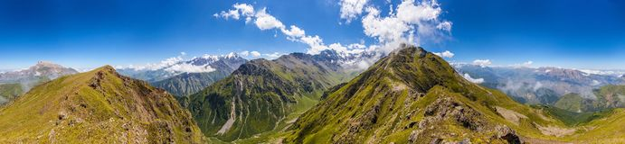 Over the Upper Fiagdon. North Ossetia, Caucasus Stock Images