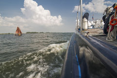 Over view from a boat deck Royalty Free Stock Photos