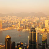 Over view of Hongkong Stock Photo