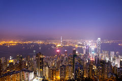 Over view of Hongkong Stock Image