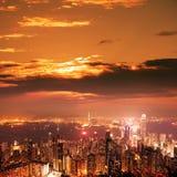 Over view of Hongkong Stock Photo