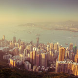 Over view of Hongkong Royalty Free Stock Photo