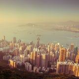 Over view of Hongkong Royalty Free Stock Photo