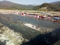 Over view of koshi river fair. River bank in uttarakhand forest Royalty Free Stock Images