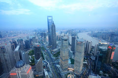 Over view of shanghai Stock Photography