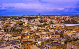Over view of Victoria city, Gozo, Malta. Landmark, at sunset Royalty Free Stock Photos