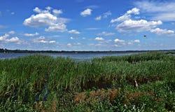 Over the Vistula River Stock Photography