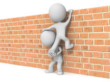 Over the wall. Royalty Free Stock Photos