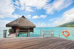 Over water bungalow Royalty Free Stock Photography