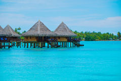 Over water bungalow #3 Royalty Free Stock Image