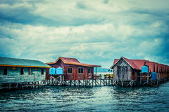 Over water bungalow Royalty Free Stock Images