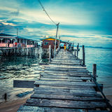 Over water bungalow Stock Photography