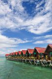 Over water bungalow Stock Images