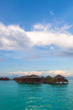 Over water bungalow Stock Photos