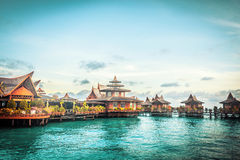 Over water bungalow Royalty Free Stock Photos
