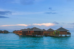 Over water bungalow Stock Image