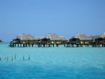 Over-water Bungalows. In Bora Bora Royalty Free Stock Image