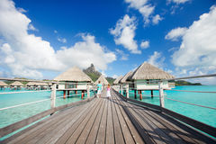 Over the water bungalows Royalty Free Stock Photo