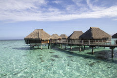 Over water bungalows Royalty Free Stock Photos