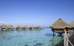 Over water bungalows stock photography
