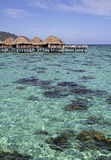 Over water bungalows Stock Image