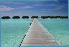 Over water bungalows Stock Photos