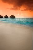 Over water bungalows Royalty Free Stock Image