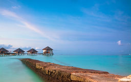 Over water bungalows Royalty Free Stock Images